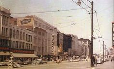 West side of South Main between Mill and Market - 1959