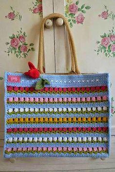 Crochet Knitting Handicraft: Bag