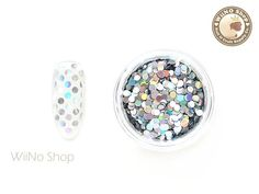 Your place to buy and sell all things handmade Nail Art Supplies, Glitter Nail Art, Nail Decorations, Etsy Crafts, Silver Rounds, Holographic, Arts And Crafts, Nail Polish, Scrapbooking
