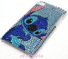 Bling Stitch Diamond Back Cover Case For iPod Touch 4th Gen