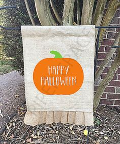 Halloween Garden Flag, Halloween Decor, Halloween Home Decor, Halloween Decor Ideas, Halloween House Decor, Halloween Party Decor by PiperGraceGifts on Etsy