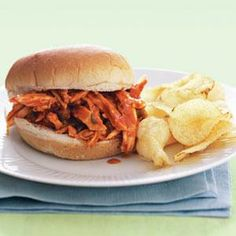 Barbecue Chicken Sandwiches | MyRecipes.com