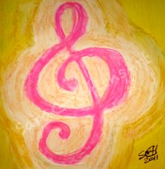 Treble Clef    http://saragriffithsart.com/    Unique custom art and jewelry