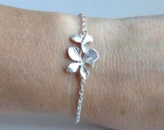 Bruidsmeisje Gift bruidsmeisje armband zilveren door Lana0Crystal