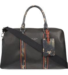 TED BAKER - Floral trim leather satchel | Selfridges.com