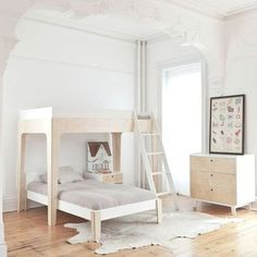 scandinavian inspired girls room love the decorative arch