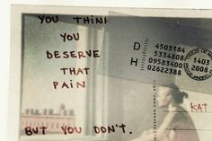 You think you deserve that pain. But you don't.  Guilt is common symptom of C/PTSD. Whatever pain you are experiencing, you do not deserve that pain. It is a matter of learning different coping mechanisms so that you can manage the pain more effectively and also truly learn that you have done nothing to deserve the traumatic things that happened to you.