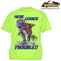 Wild Cotton Here Comes Trouble T-Rex Dinosaur Toddler Graphic T-Shirt | Nothing But Dinosaurs