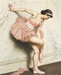 Ballerina by Auguste Leroux (French, 1833-1905). Oil on canvas