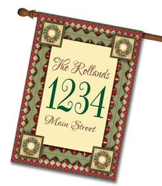 Christmas Magic- Address House Flag 28″x40″  Flag stand sold separately Proudly Printed in the USA Vibrant colors printed on a poly/cotton outdoor quality fabric. Digitally printed on both sides of the fabric. Two fabric options given at checkout.