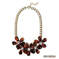 Flowers in Bloom - Our Tortoise Shell color Necklace - Get the matching Bracelet too - Jewelry