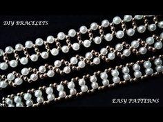 How to make Bracelets. Easy tutorial – You… - new season bijouterie Easy Beading Tutorials, Diy Jewelry Tutorials, Beaded Bracelet Patterns, Beading Patterns, Beaded Bracelets, Easy Patterns, Necklaces, Black Bracelets, Tutorial Anillo