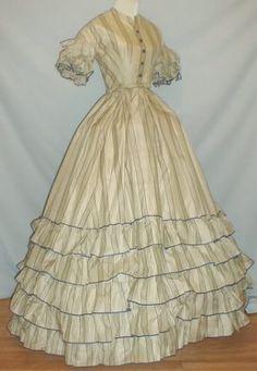 1855-57 Summer dress