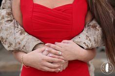 Military Engagement Photos.  Lincoln Nebraska.  Spencer Studios.