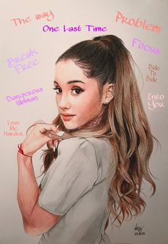 Ariana Grande  Drawing with colored pencils