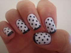 cute black & white polka dots