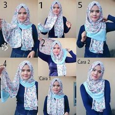 Pointy hijab style is very hype in Indonesia. This tutorial is so simple and eas. - Hijab+ Pointy hijab style is very hype in Indonesia. This tutorial is so simple and eas Simple Hijab Tutorial, Hijab Style Tutorial, How To Wear Hijab, How To Wear Scarves, Bridal Hijab, Wedding Hijab, Hijab Bride, Bridal Mehndi, Wedding Dresses