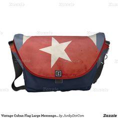 Vintage Cuban Flag Large Messenger Bag @zazzle April 21