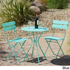 Red Star Traders 'Sol' 3-piece Outdoor Bistro Set | Overstock.com Shopping - Big Discounts on Red Star Traders Bistro Sets