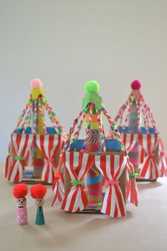 kids make circus tents from a cardboard box ~ guest post for @followcharlotte
