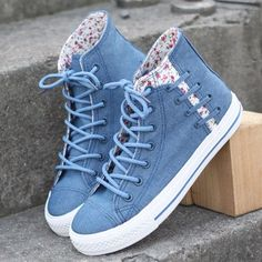 """Style:sweet Help high:10cm/3.93"""" Sole material:rubber sole Color:light blue.dark blue Size here: 4.5 B(M) US Women/3 D(M) US Men = EU size 35 = Shoes length 225mm Fit foot length 225mm/8.8in 5.5 B(M)"""