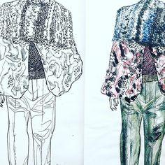 Down to the last fibre #fashionillustration #illustration #details #design #collage #drawing #art #artist #fashiongram #fashionblogger #fashion #mode #moda #мода #эскиз #csm #artschool #fashionstudent #print #textiles #arte