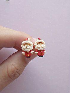 Santa Earrings - Christmas Earrings - Xmas Earrings - Secret Santa Gift - Holiday Earrings - New Year Earrings - Christmas Gifts