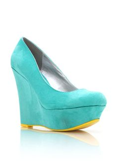 faux suede wedges $27.00