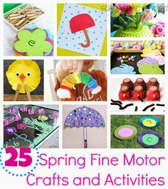 School Time Snippets: 25 Spring Themed Fine Motor Crafts & Activities