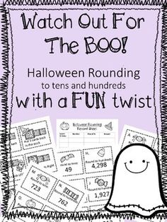 Halloween Rounding to Tens and Hundreds Game Rounding Games, Fun Math Games, Halloween Activities, Halloween Themes, Early Finishers, Math Workshop, Group Work, Guided Math, Cute Halloween