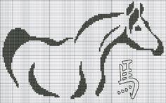 cuerpo monocromaticos caballos