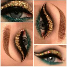 Eye Makeup Tips – How To Apply Eyeliner – Makeup Design Ideas Cleopatra Makeup, Egyptian Makeup, Arabic Makeup, Egyptian Hair, Medusa Makeup, Egyptian Costume, Gold Makeup, Makeup Art, Beauty Makeup