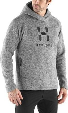 Haglofs Men's Swook Logo Hood Fleece Hoodie Concrete XXL