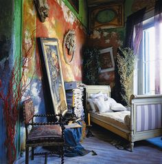 The unusual apartment of antiques dealer Silvia Petroccia in Buenos Aires. Marie Claire Italia