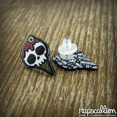 Hey, I found this really awesome Etsy listing at https://www.etsy.com/listing/152131442/skull-ice-cream-cone-acrylic-earrings