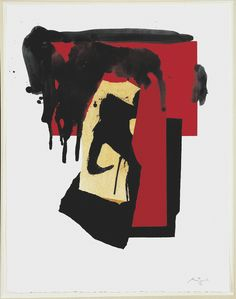 Liked it because of the use of colour and the fact that the shape could be anything by robert motherwell Robert Motherwell, Richard Diebenkorn, Abstract Drawings, Abstract Art, Large Canvas Art, Mark Rothko, Art Moderne, Art Plastique, Artist Art