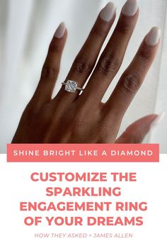 Ready to create your dream engagement ring? 💍 JamesAllen.com allows you to customize your diamond ring online. Get 25% off* the setting on your first purchase! #ad *Does not include loose diamonds, gemstones, designer collections, and pre-set earth-created diamond studs and pendants. Promotional discounts applied to an order are only valid for the item purchased and will not be applied to future purchases or exchanges after the sale ends. Cannot be combined with any other offer. Unique Diamond Engagement Rings, Dream Engagement Rings, Pave Ring, Diamond Studs, Fashion Rings, Dreaming Of You, Silver Rings, Rings Online, Gemstones