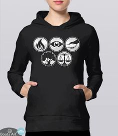 Divergent Factions Hoodie for Divergent Fans. T-Shirt | Geek Fangirl Clothing for fans of the Divergent Series of books and movies. Pictured: Black Unisex Hoodie
