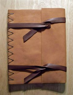 Single Page Leather Book Binding