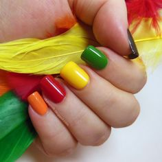 Pop of color for Thanksgiving! City color love spicing up the holidays with bright colors! #nailpolishes #bright #bold