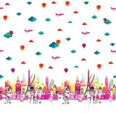 Stenzo17 3836-12 Tricot digitaal rand girly roze
