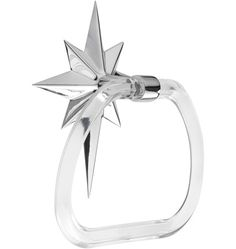 Perry Towel Ring with Star Backplate Mid-Century Modern