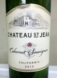 Chateau St.Jean Cabernet Sauvignon California USA 13.8 % alcohol $ 23 Dark red with aromas of blackberry, plum & chocolate. Flavors of black cherry, berry & tea. 89pts.