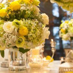 #yellow #weddingtheme #flowerdecoration #flowergate #gallerytable #receptiontable #pingpong #welcomedrinks Flower Decorations, Wedding Decorations, Table Decorations, Reception Table, Yellow, Flowers, Florals, Wedding Decor, Flower
