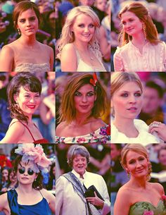The Women of Harry Potter. (However I seem to be having trouble identifying the first in the  middle row... help!)