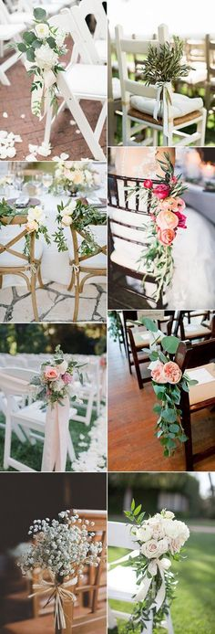 wedding chair decoration ideas with florals #ChairDecorations