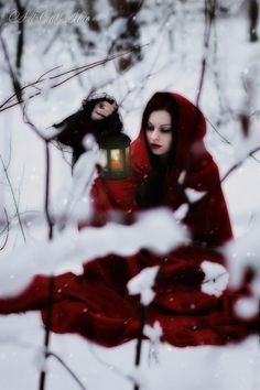 Little Red Ridding Hood Little Red Ridding Hood, Red Riding Hood, Dark Photography, Winter Photography, Photography Ideas, Big Bad Wolf, Red Hood, Winter Wonder, Through The Looking Glass
