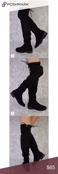 Thigh high boots Flat thigh highs. Super cute with leggings or a dress. Brand new!! Never worn. Size 8.5 forever Shoes Over the Knee Boots