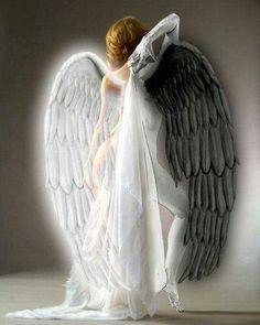 Angel or Demon Foto Fantasy, Dark Fantasy Art, Gothic Angel, Gothic Art, Elfen Tattoo, Angel Falls, Ange Demon, Angel And Devil, Evil Angel
