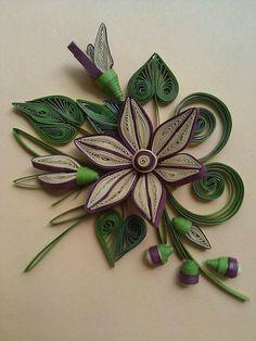 Květ s listy * quilling